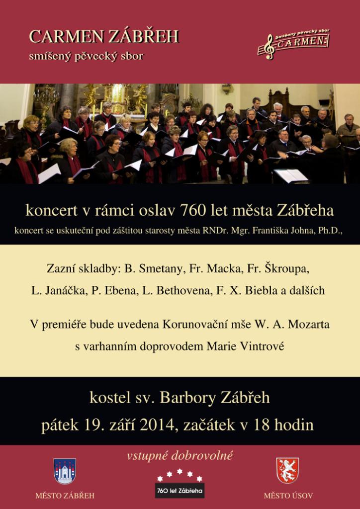 Koncert - 760 let Zábřeha